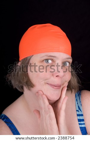 lovely lady goes on cruise holiday and struts her stuff - stock photo
