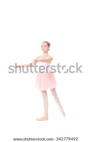 lovely little girl, dressed as a ballerina