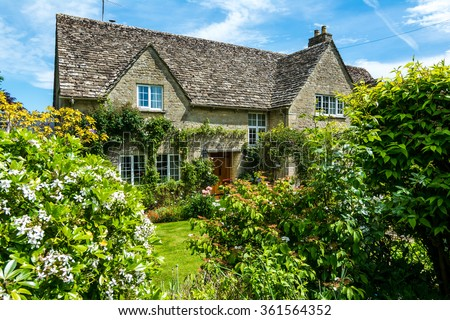 Lovely old cotswold stone house in Burford,Oxfordshire, England, UK