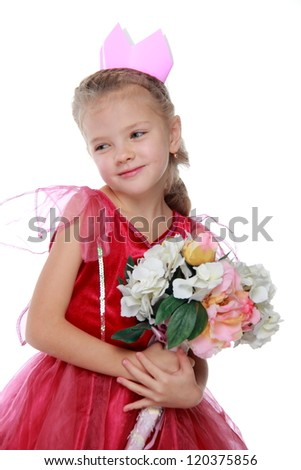 Lovely princess with flowers