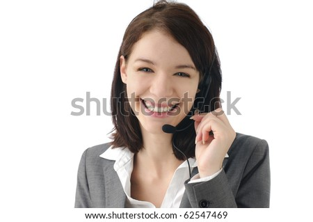 Lovely receptionist smiling - stock photo