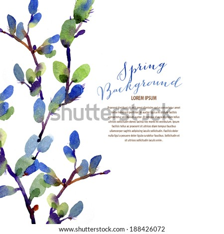 Lovely seasonal border with room for text - stock photo