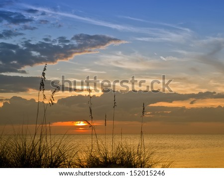 Lovely Sunset, gulf of mexico - stock photo