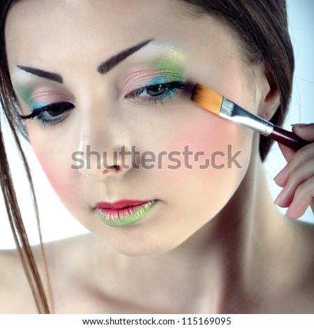 lovely woman with brush