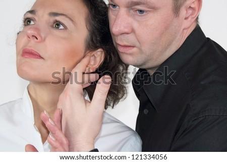 lovers - stock photo