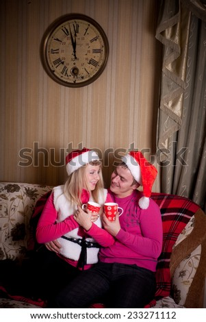 Lovers celebrate Christmas together