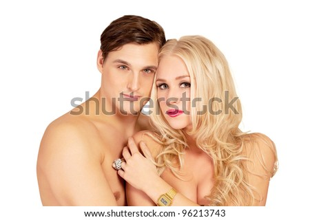 Lovers embrace - stock photo