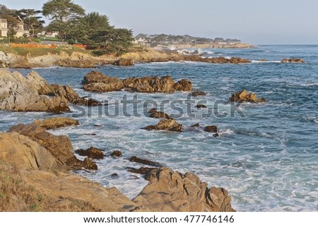 Lovers Point; this picture is taken along the bike trail near lover's point; Monterey Bay