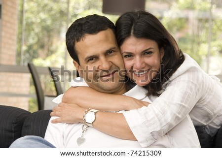 Loving Couple Having Fun Indoor