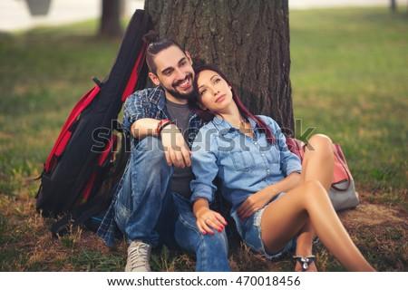 Girl dating tree