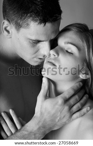 loving couple,series - stock photo