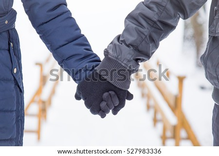 Hand Pink Protective Glove Washing Cars Stock Photo