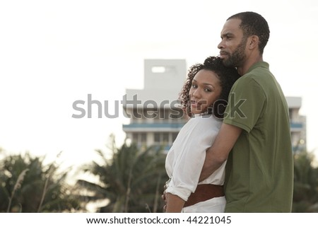 Loving young couple - stock photo