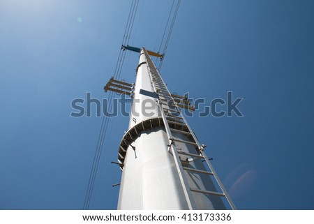 Low angle shot power tower