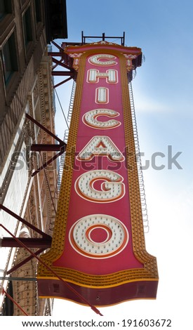 Low angle view of a signboard, Chicago, Cook County, Illinois, USA - stock photo