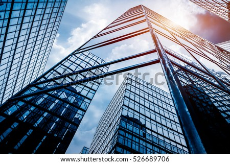 low angle view of skyscrapers in Shenzhen,China.