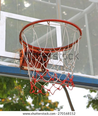 Low angle view outdoor basketball - stock photo
