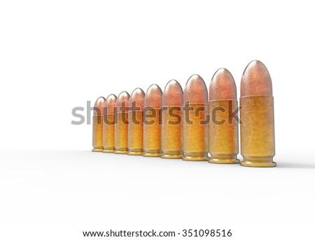 Low Caliber Bullets - stock photo