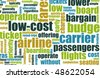 Low Cost Carrier Budget Airline Concept Art - stock photo