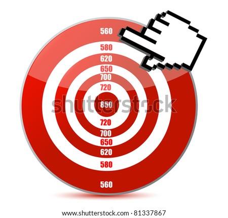 Low credit score concept illustration design - stock photo