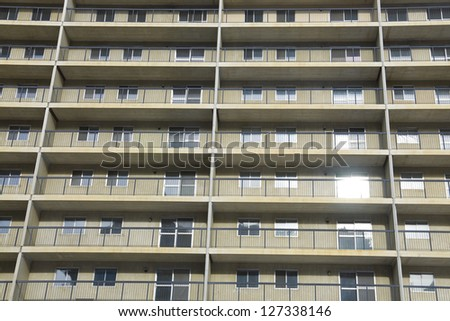 Low income housing in Calgary's downtown distric - stock photo