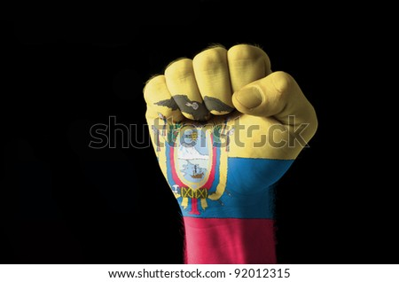 Vepars Ecuador National Flag And Outline Map Set On Shutterstock - Colored outline map of ecuador