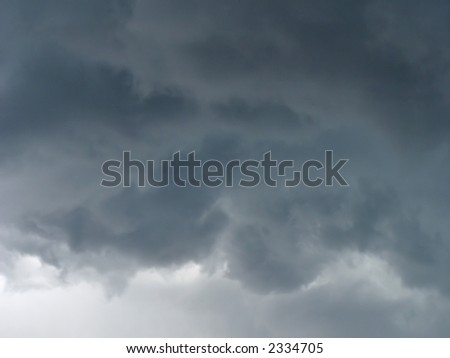 Low level tornado clouds. - stock photo