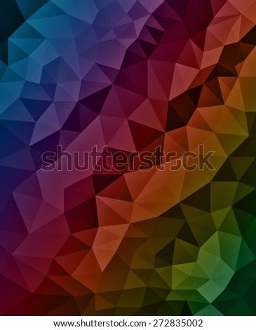 Low poly background. Triangle shapes in mosaic pattern of diamond facets, low poly triangular style background design texture. - stock photo