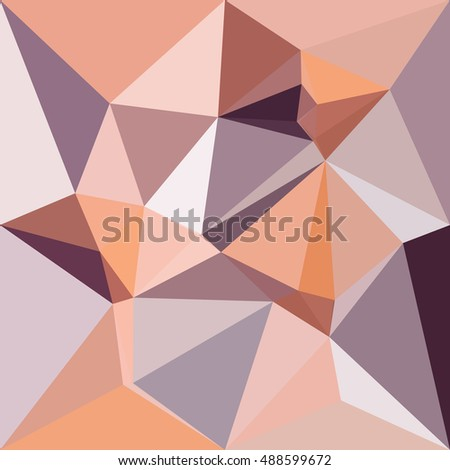 Low polygon style illustration of almond beige abstract geometric background.