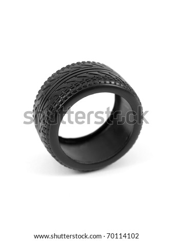 Low profile tires isolated on white background