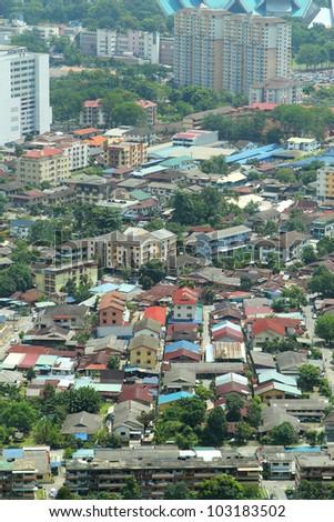 Low-rise Buildings, Kuala Lumpur City, Malaysia - stock photo