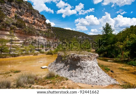 Low Water on the Frio River - stock photo