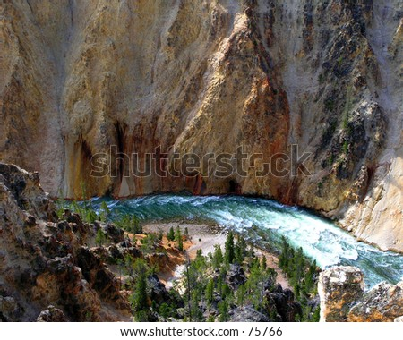 Lower Canyon River of Yellowstone National Park
