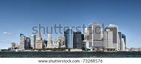 Lower Manhattan/Lower Manhattan/Daytime photo of lower Manhattan from ferry