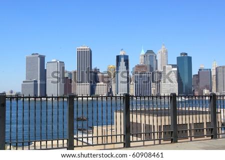 lower Manhattan Skyline, New York City - stock photo