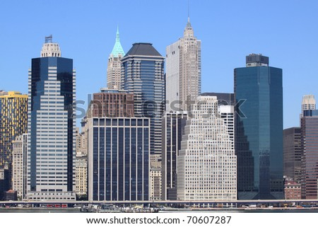 lower Manhattan Skyline, New York City - stock photo