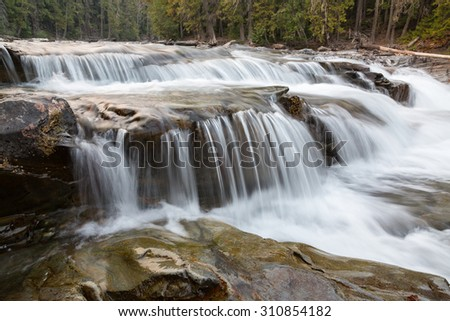 Lower McDonald Creek 2 in Glacier National Park - stock photo