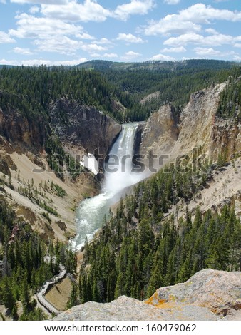 Lower Yellowstone Falls Lower Yellowstone falls taken from the grand canyon of the Yellowstone river.