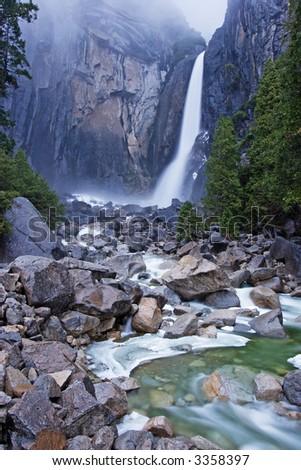 Lower Yosemite Falls - stock photo