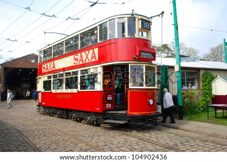 LOWESTOFT, ENGLAND - MAY 6: The 50th anniversary of the closure of the London trolleybus system, once the largest in the world, was commemorated on May 6, 2012, Lowestoft, England - stock photo