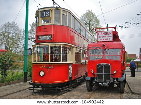 LOWESTOFT, ENGLAND - MAY 6: The 50th anniversary of the closure of the London trolleybus system, once the largest in the world, was commemorated at the East Anglia Transport Museum on May 6, 2012.