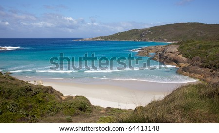 Lowlands Beach, between the towns of Albany and Denmark, Western Australia. - stock photo