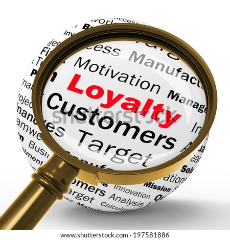Loyalty Magnifier Definition Showing Honest Fidelity Integrity And Reliability