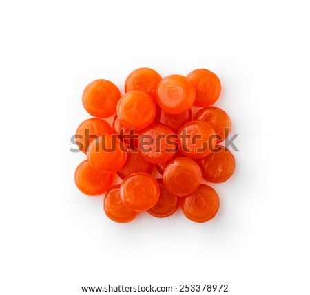 Lozenges cough heap ,  isolated on white background - stock photo