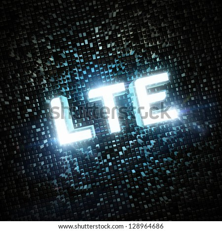 LTE highspeed concept - stock photo