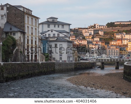 Luarca coastal town in the Bay of Biscay, north of Spain
