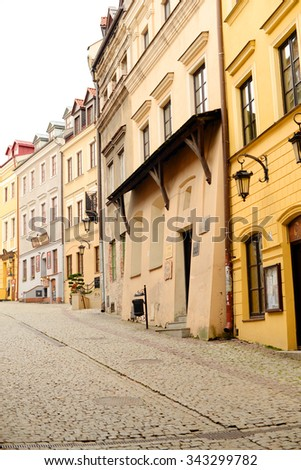 LUBLIN, POLAND - NOVEMBER 14: Old town of Lublin on November 14, 2015 in Lublin, Poland.