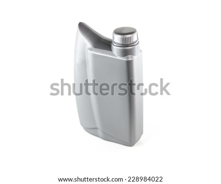 Lubricants , Motor oil bottle isolated on white background - stock photo