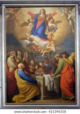 LUCCA ITALY JUNE 06 2015 Altarpiece Stock Photo Royalty Free