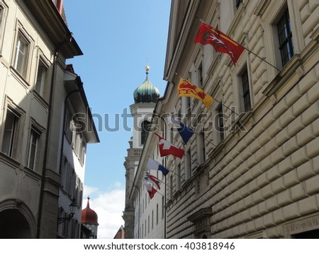 Lucerne tourism in Switzerland - stock photo